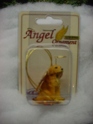 GOLDEN RETRIEVER DOG ANGEL Ornament HAND PAINTED resin FIGURINE COLLECTIBLE
