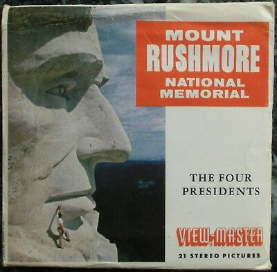 3 View-Master 3D Bildscheiben - Mount Rushmore | The Four Presidents