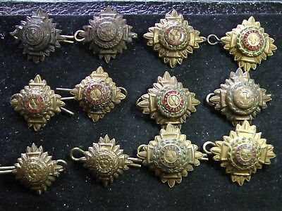 MIXED LOT of 12 BRITISH ARMY OFFICERS INSIGNIA PIPS ~ WWI AND WWII VINTAGE