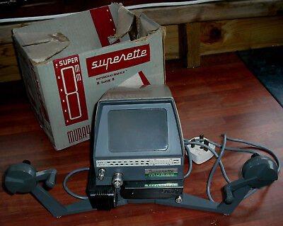 Superette MURA4 8mm & Super-8 Movie Film Viewer/Editor - Works but sold as found