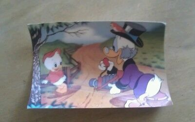 Micky Maus / Dagobert Duck  - Postkarte - 3D Optik