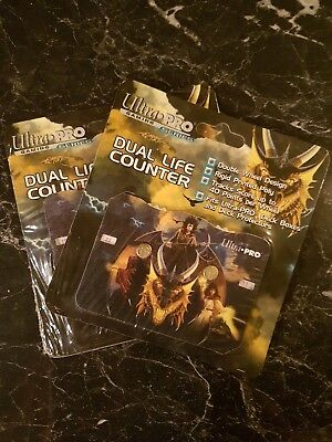 2 x Elmore Gold Dragon MGT Magic Dual Life Counter Lebenspunktezähler UItra Pro