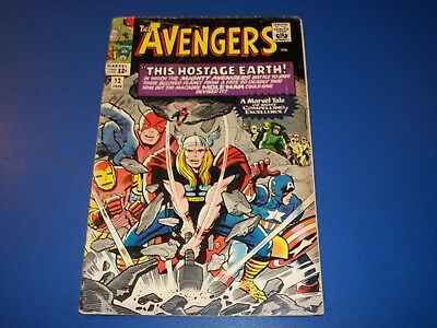 Avengers #12 Silver Age Great Thor Cover Rare Wow