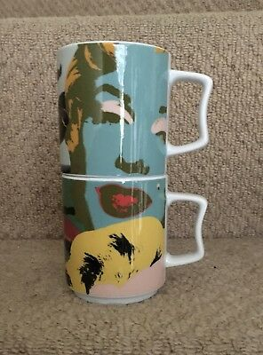 "Rosenthal Studio-line Andy Warhol ""Marilyn Monroe"" coffee mugs X 2"