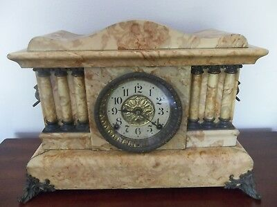 Antique  Seth Thomas Adamantine Clock Pat'd 1880 Works Great W/Key