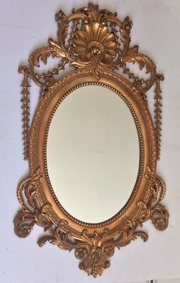Vintage Mid Century Burwood Arabesque Copper Plated Edwardian Style Mirror
