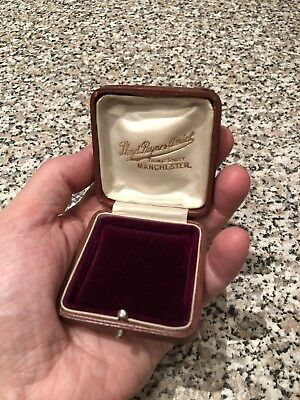 Antique Vintage Jewellery Box Pendant Brooche Necklace Manchester Maker Ring Box