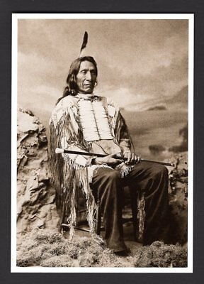 Unused 2013 Postcard Native American Indian RED CLOUD Vintage Photo SIOUX CHIEF