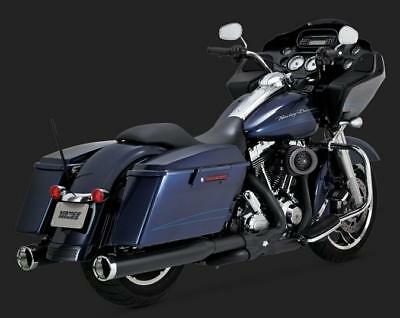 Vance and Hines Power Duals Exhaust for HD Touring Models 2009 - 2016 - Black