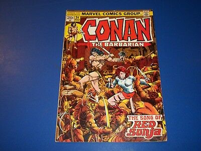 Conan the Barbarian #24 Bronze Age 1st Full Red Sonja Key Wow Barry Smith