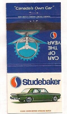 Studebaker of Canada, Ltd., Car of the Year Matchcover 092018