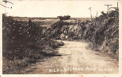 LP13 Hilo Hawaii  Volcano Road Hawaiian Islands RPPC Vintage Postcard