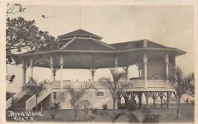 LP26 Hilo  Hawaii Hawaiian Islands RPPC Vintage Postcard Band Stand