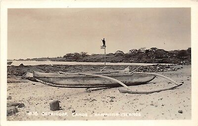 LP29 Outrigger Canoe Hawaii Hawaiian Islands RPPC Vintage Postcard