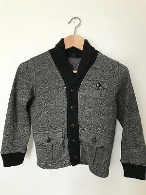 eb471c5c6 BABY GAP BOYS Black Bomber Jacket Faux Leather Size 12-18m -  29.95 ...