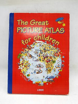 THE GREAT PICTURE ATLAS FOR CHILDREN Large Illustrated Hardback Book - H40