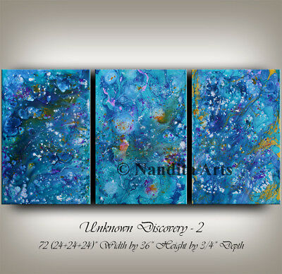 """Acrylic Pour Painting - Fluid Art- Abstract Paintings on Canvas - Modern Art 72"""""""