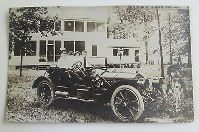 Antique Packard Car Automobile Real Photo Postcard Elkhart Indiana