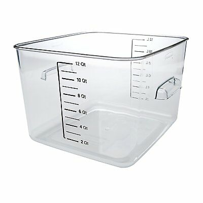 Commercial Space Saving Food Storage Container with Lid, 12 Quart