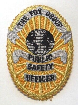 """Defunct The Fox Group International Public Safety Lake Worth Florida 3"""" Patch"""
