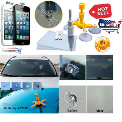 This Magic Repair Kit Can Repair Cracked Phone Screen, Windshield and Any Glass)