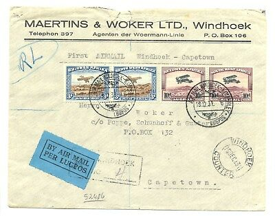 South West Africa Swa 1932 Spec Flight Cv ---F/vf