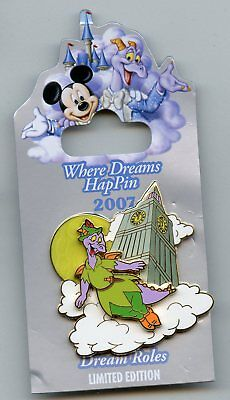 Disney Where Dreams HapPin Event - Figment as Peter Pan Flying by Big Ben LE Pin
