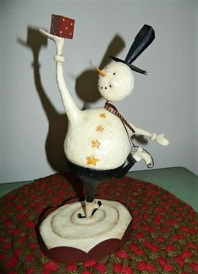 """2003 RETIRED Graceful Lang & Wise Skating Snowman August Moon 12"""" Tall D DiPaolo"""