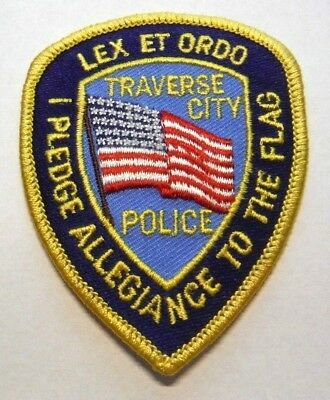 Traverse City Michigan Police Vest Hat Patch Unused