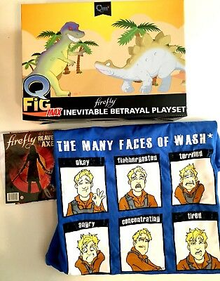 Firely Serenity QMX Cargo Crate Wash Inevitable Betrayal Lot - Shirt, Figure