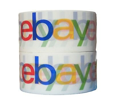 """Classic Logo Design Official eBay Branded Packaging Tape 2"""" x 75 yards 2-4 Rolls"""