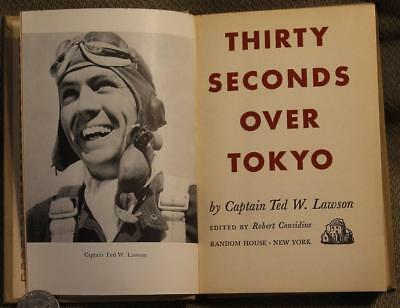 """Genuine 1943 """"Thirty Seconds Over Tokyo"""" Book First Edition &"""