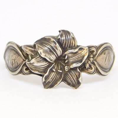 Art Nouveau Beautiful Sterling Unger Brothers Napkin Ring