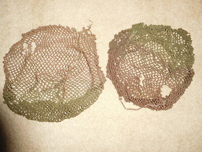 Two WWII Canadian Camouflage Helmet Nets