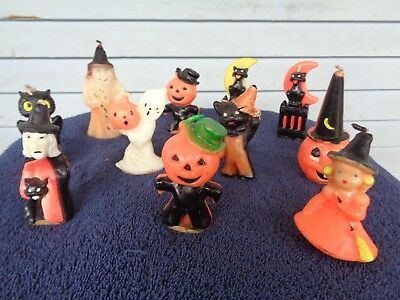 Vintage Gurley Halloween Candles (11) Great Condition
