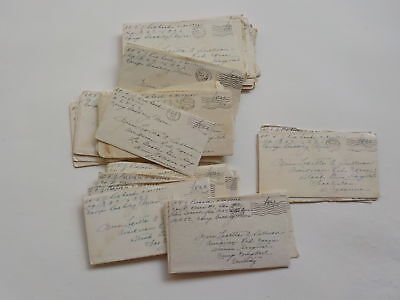 44 WWII Letters 326th Glider Infantry Camp Barkeley Texas Red Cross Lot WW2