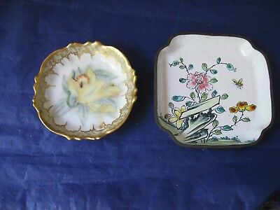 Lot of Two Antique Butter Pats - One is From France