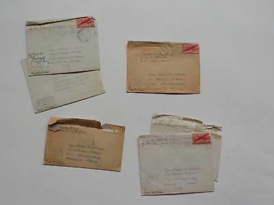 "6 WWII Letters Germany 76th Infantry Division ""Onaway"" Soldier Army WW2"