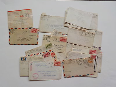 26 WWII Letters Military Servicemen World War Two VTG WW11 Covers WW II WW2 Lot