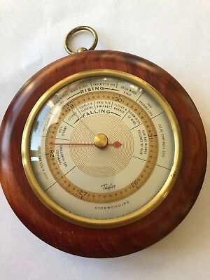 """Vintage Taylor """"stormoguide Weather Barometer Mahagony, Patent 1927 Rochester Ny"""
