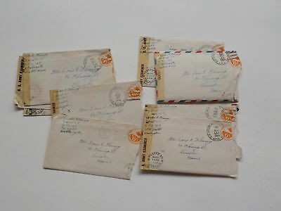 10 WWII Letters Censored Mail Lincoln Maine Soldier World War Two Lot VTG WW2