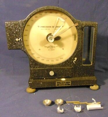 Antique Roller-Smith Precision Balance 1900's with Accessories Heavy Metal Scale