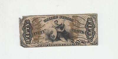 1863 50 Cents Fractional Currency Note SPECIMEN Circulated