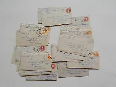 20 WWII Letters 326th Glider Infantry Red Cross Charleston South Carolina WW2