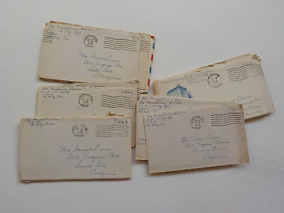 20 WWII Letters Soldier Ft. Riley Kansas South Gate California Lot VTG Army WW2