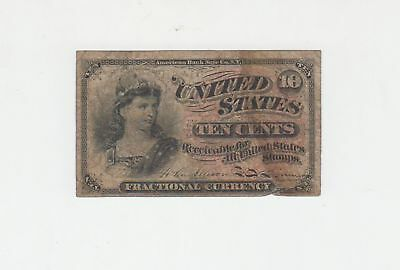 (Fr-1258)  1863 10 Cents Fractional Currency Note CIRCULATED