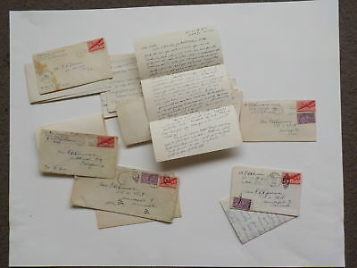24 WWII Letters Navy Lieutenant Robert Dunnavan World War Two Lot VTG WW2