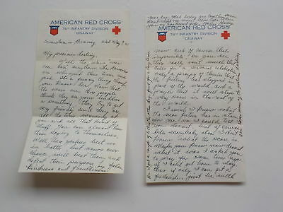 "WWII Letter 1945 Germans Afraid Russians 76th Division ""Onaway"" WW2"