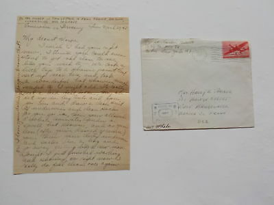 "WWII Letter 1945 Luxembourg Money Paper 76th Infantry Division ""Onaway"" WW2"