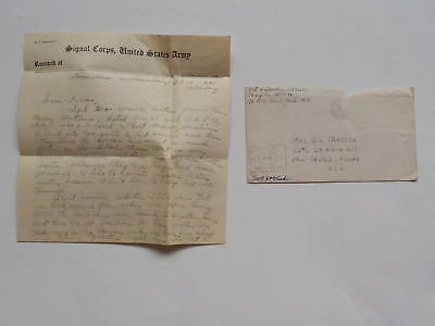 """WWII Letter 1945 Luxembourg Railroad 76th Infantry Division """"Onaway"""" WW2"""